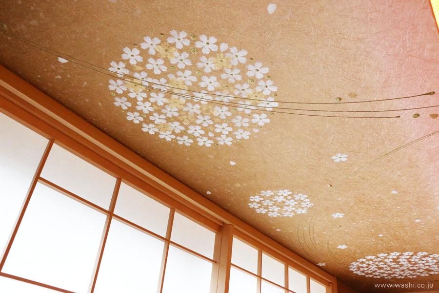 オーダーメイド和紙壁紙・アクセントクロス(ホテル・手毬)デザインアップ