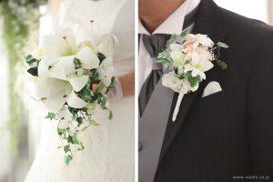 和紙の花ブライダルウェディングブーケ|結婚式用のカサブランカとデンファレのペーパーフラワー(お客様から頂いた写真)