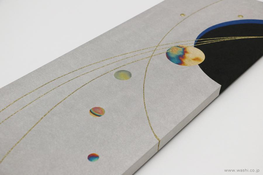 結納品水引リメイクモダンアートパネル(フチ部分にもデザインが画かれています)
