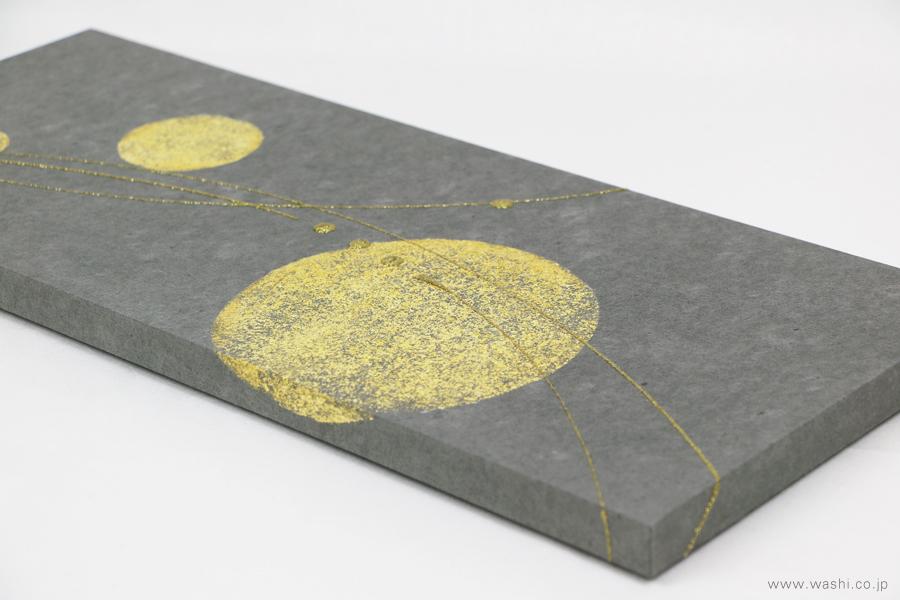 ちりめん玉飾りと鶴亀の結納品リメイクアートパネル(デザイン部アップ)