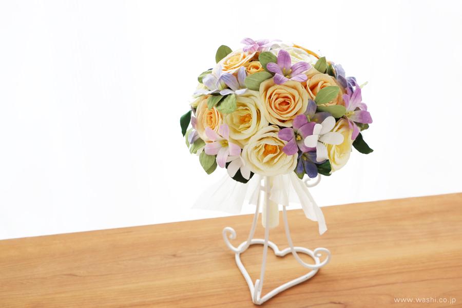 結婚記念日・紙婚式 パステルカラーの和紙花オーダーメイドプレゼント