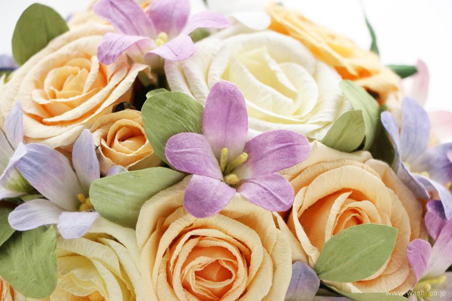 結婚記念日・紙婚式 パステルカラーの和紙花オーダーメイドプレゼント(アップ)