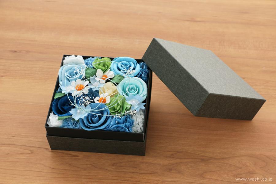 開業・開店祝いの和紙の花フラワーボックス