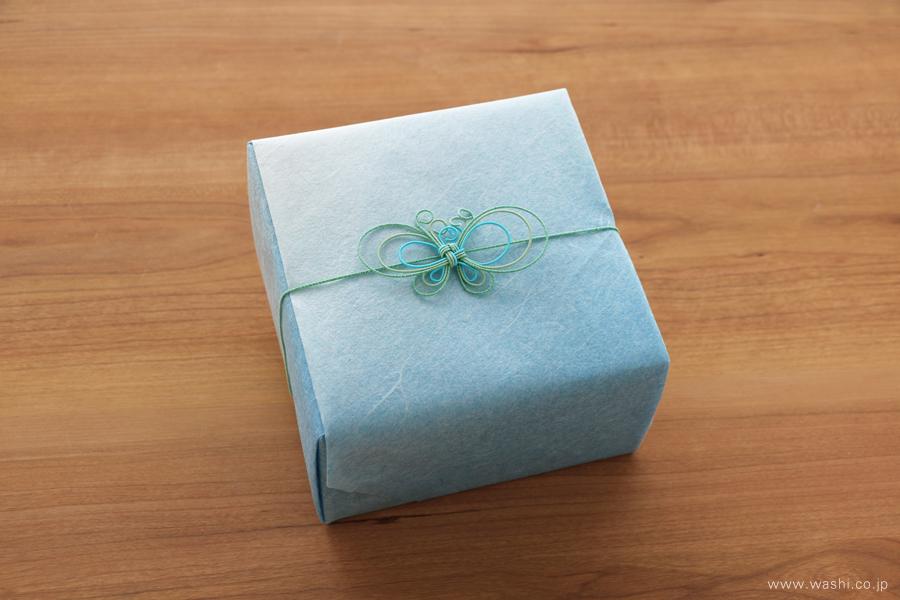 開業・開店祝いの和紙の花フラワーボックス(和紙と水引のギフトラッピング)