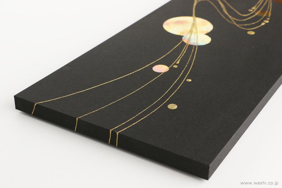 現代の生活空間にも合わせやすい結納品リメイクパネル 3種(墨黒タイプ 別アングル)