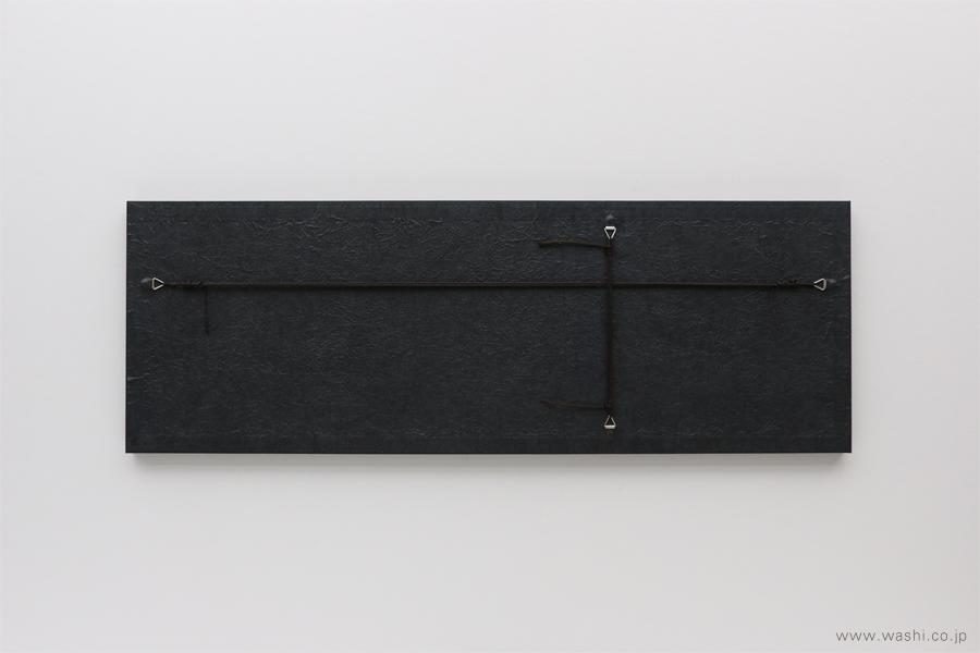 現代の生活空間にも合わせやすい結納品リメイクパネル 3種(墨黒タイプ 裏面)