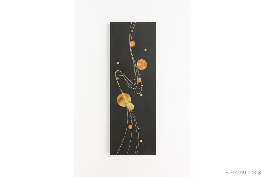 現代の生活空間にも合わせやすい結納品リメイクパネル 3種(墨黒タイプ)