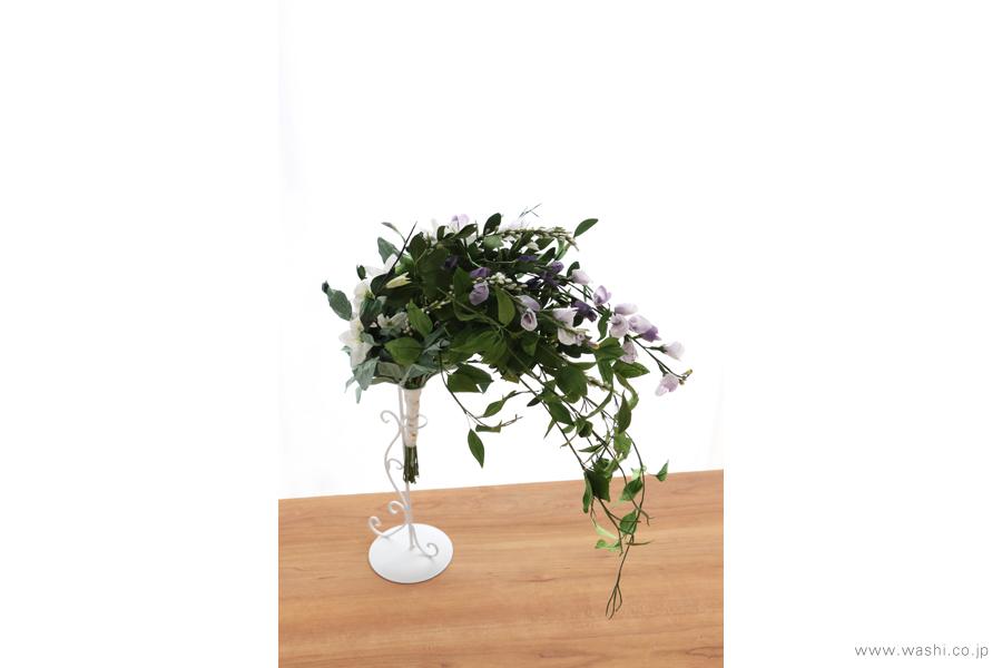 結婚一周年記念日の紙婚式オーダーメイドプレゼント 動きのある葉っぱが美しい和紙製の花束