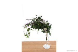 結婚一周年記念日の紙婚式オーダーメイドプレゼント 動きのある葉っぱが美しい和紙製の花束(高低差をつけてふんわりとした印象に)