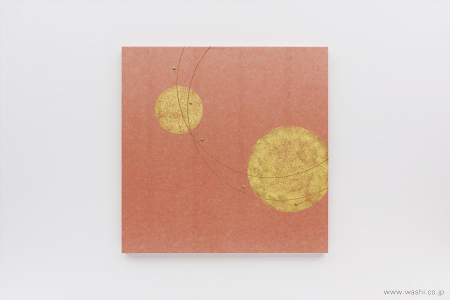 存在感のある結納飾りをリメイクして3種類の角型アートパネルに(ピンク、水引飾り無し)