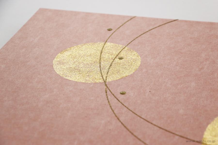 存在感のある結納飾りをリメイクして3種類の角型アートパネルに(ピンク、デザイン部分)